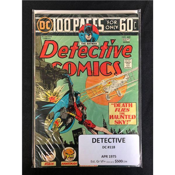 DC COMICS DETECTIVE NO. 118