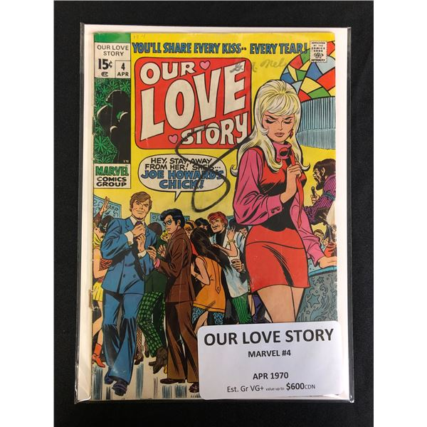 MARVEL COMICS OUR LOVE STORY NO. 4