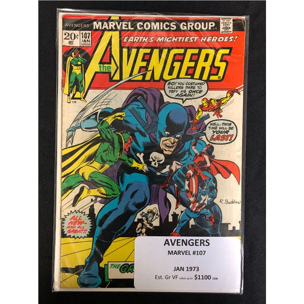 MARVEL COMICS AVENGERS NO.107