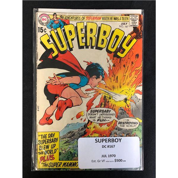 DC COMICS SUPERBOY NO.167