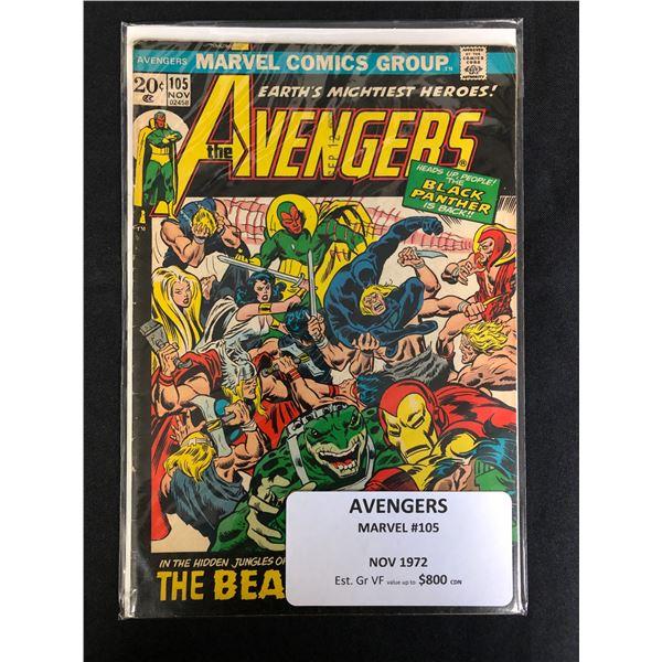 MARVEL COMICS AVENGERS NO.105