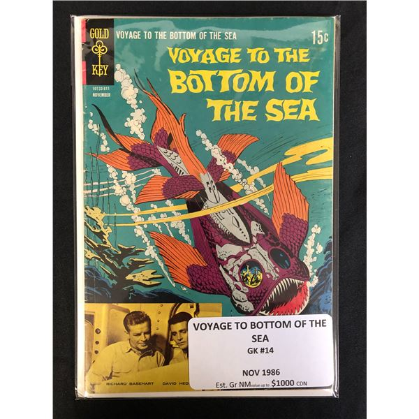 GOLD KEY COMCIS VOYAGE TO THE BOTTOM OF THE SEA  NO.14