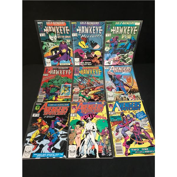 MARVEL COMICS HAWKEYE COMIC BOOK LOT