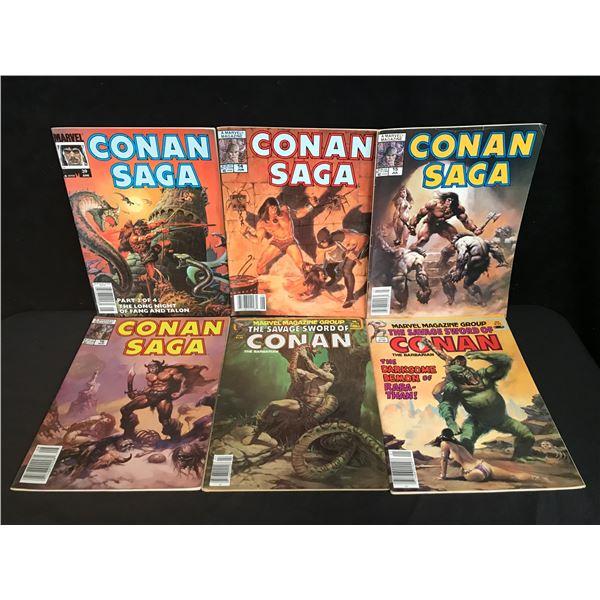 CONAN SAGA COMIC BOOK LOT