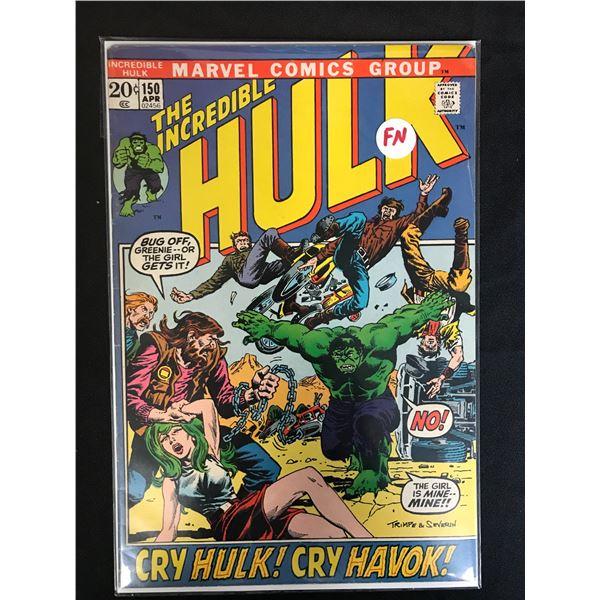 MARVEL COMICS THE INCREDIBLE HULK NO.150