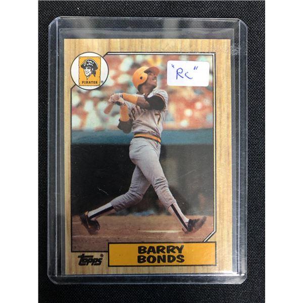 1987 TOPPS BARRY BONDS ROOKIE CARD