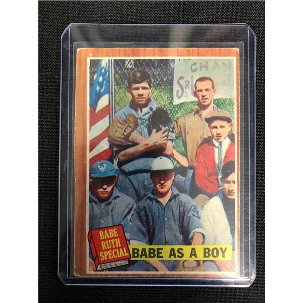 1962 TOPPS BABE AS A BOY BASEBALL CARD