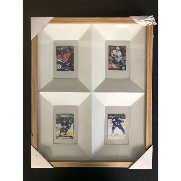 MAPLE LEAFS FRAMED ROOKIE CARD LOT