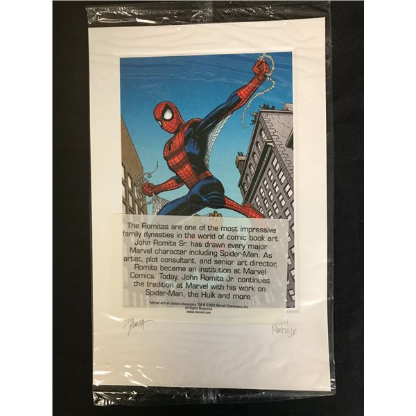 JOHN ROMANITA SIGNED SPIDER-MAN PRINT