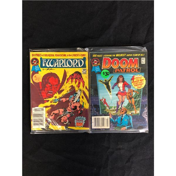 WARLORD AND DOOM PATROL COMIC BOOK LOT