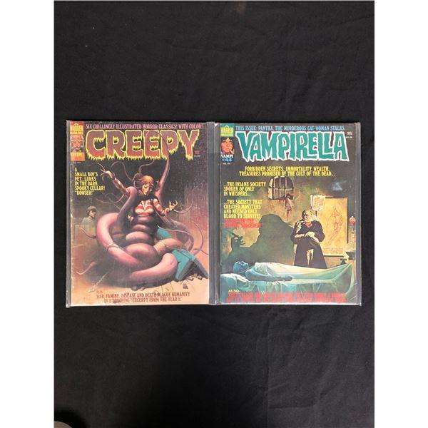 CREEPY AND VAMPERELLA COMIC BOOK LOT