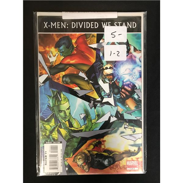 X-MEN DIVIDED WE STAND 1-2 COMIC LOT