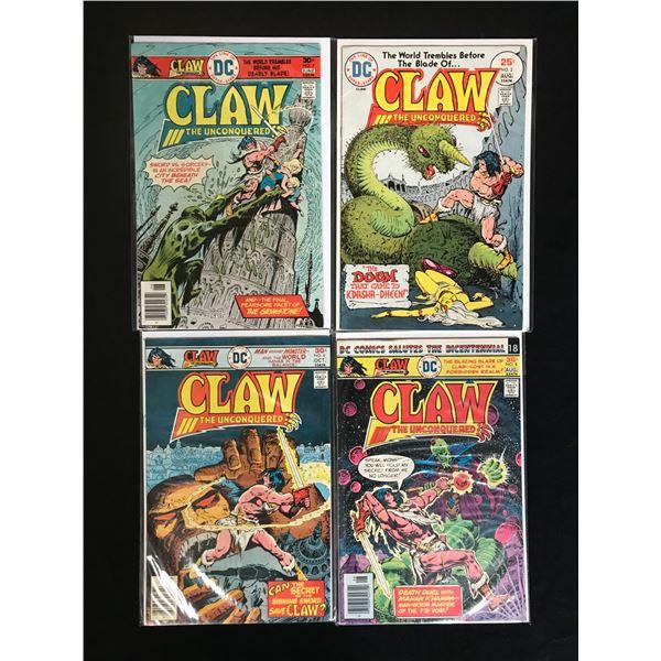 DC COMICS CLAW COMIC BOOK LOT