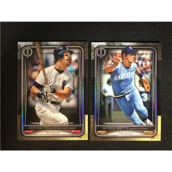 MLB STAR CARD LOT (MATTINGLEY/ BRETT)
