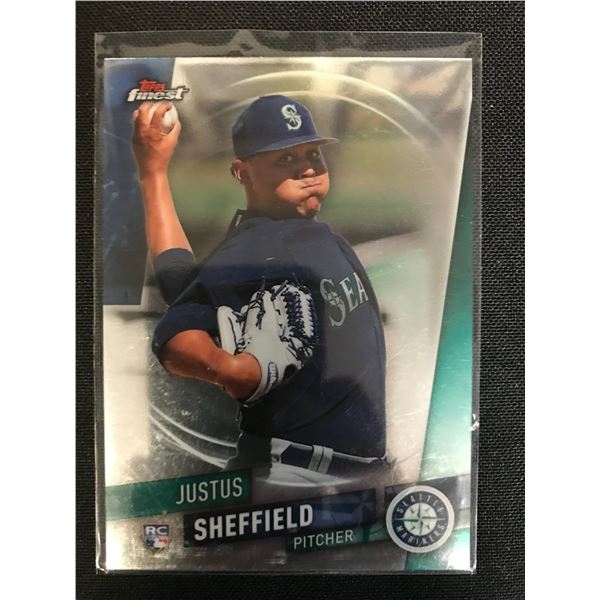2020 TOPPS FINEST JUSTUS SHEFFIELD ROOKIE CARD