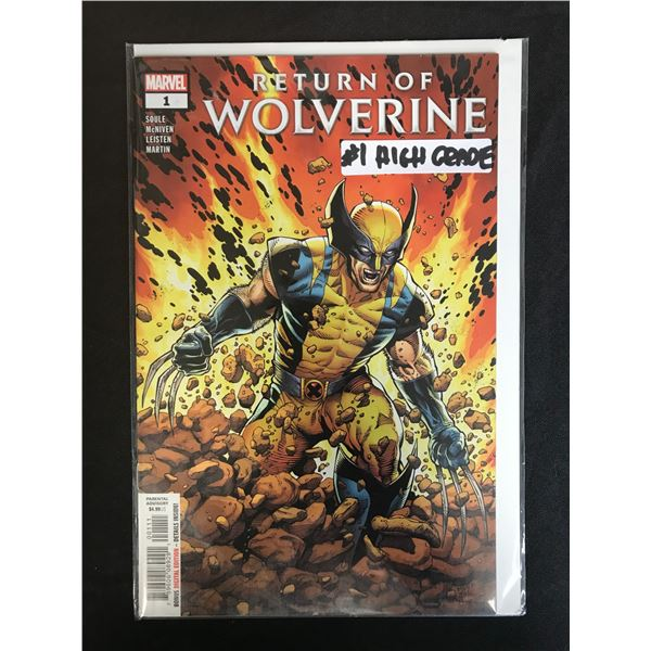 MARVEL COMICS RETURN OF THE WOLVERINE NO. 1