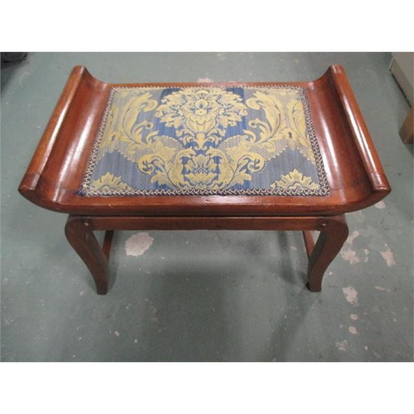 Antique Stool Wooden Spring Cushion Seat