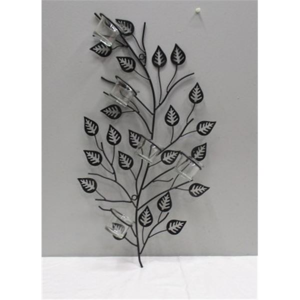Large Wall Mounted Metal Candle Holder