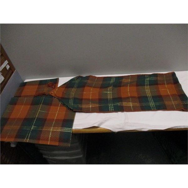 Fall Plaid Table Setting Cloth Napkins Runner