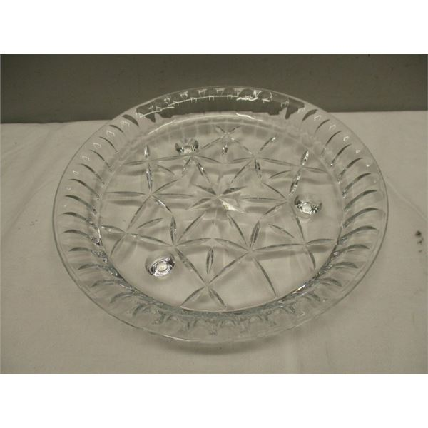 Crystal Footed Serving Dish