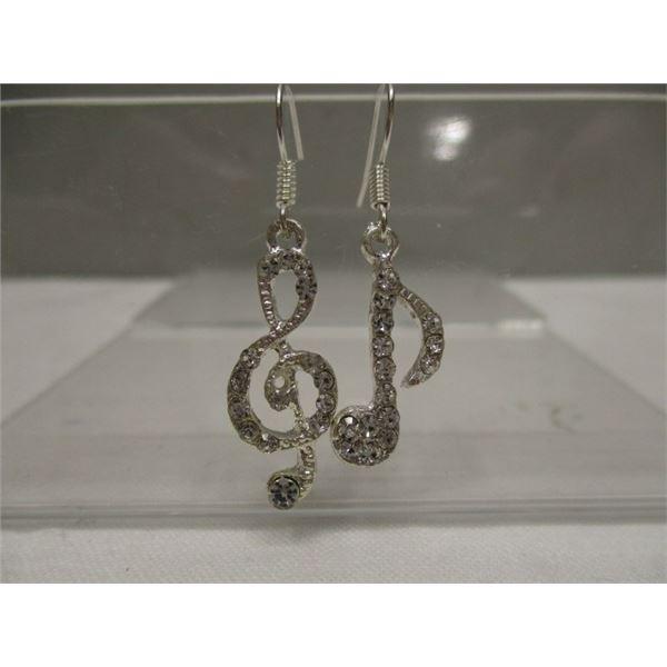Pierced Earrings Music Note & Treble Clef