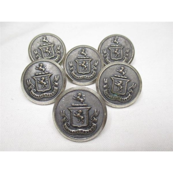 Metal Buttons With Crest