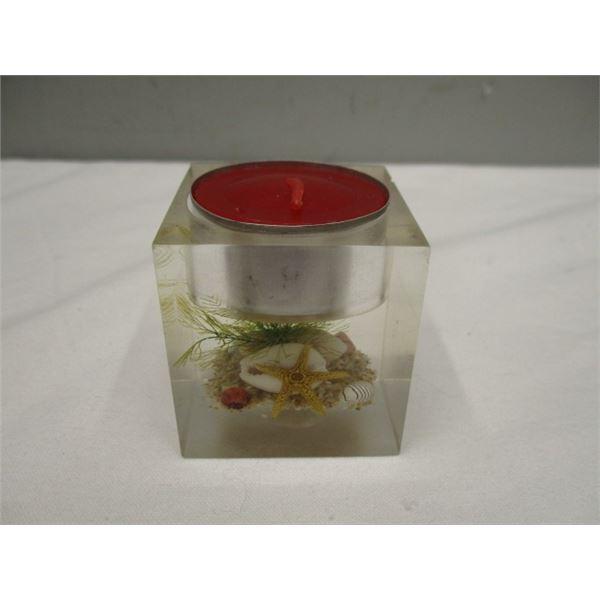 Vintage Lucite Tealight Candle Holder