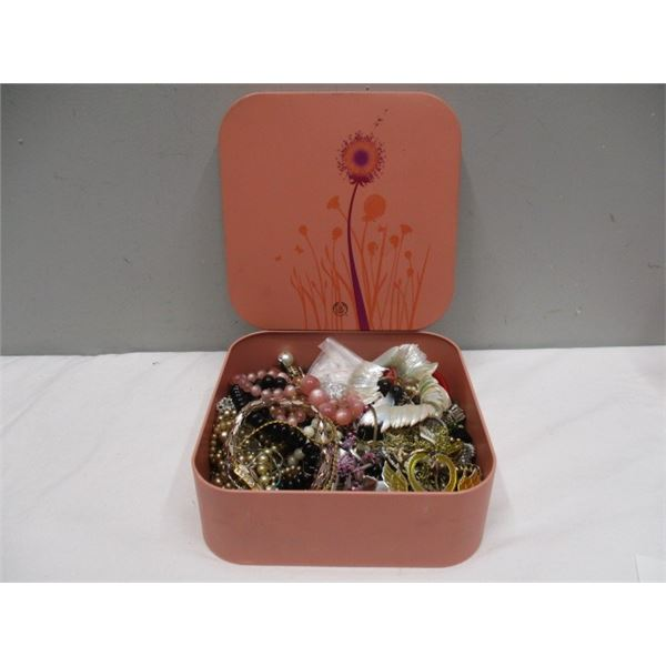 Tin Full Of Crafter's Jewellery
