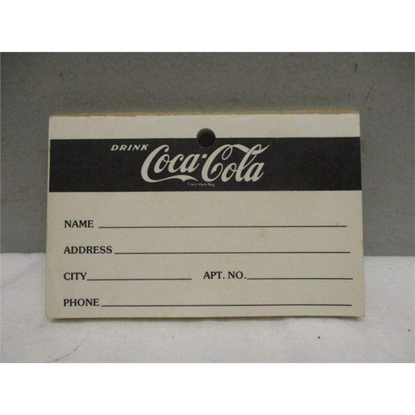 Coca-Cola Address Note Pad