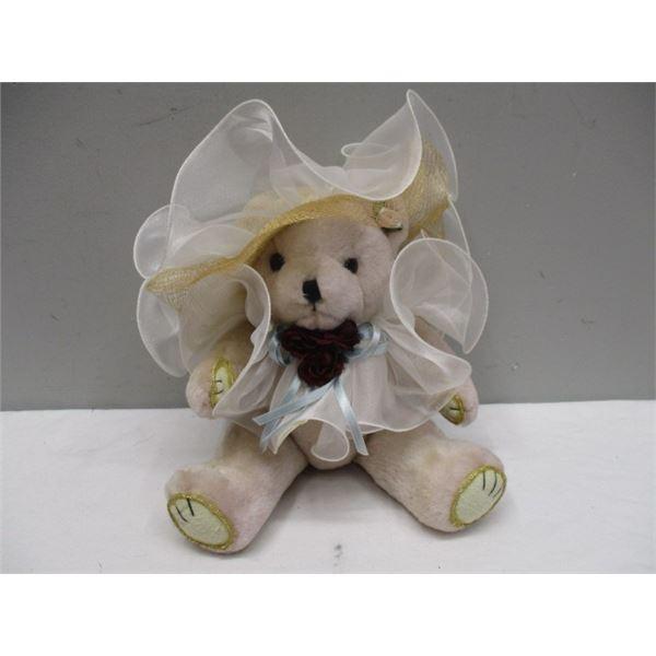 Teddy Bear Wearing Frilly Hat