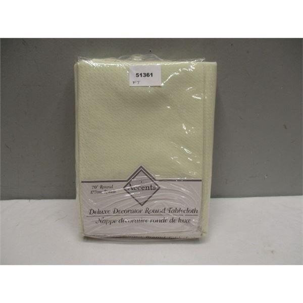 Deluxe Round Tablecloth in Package