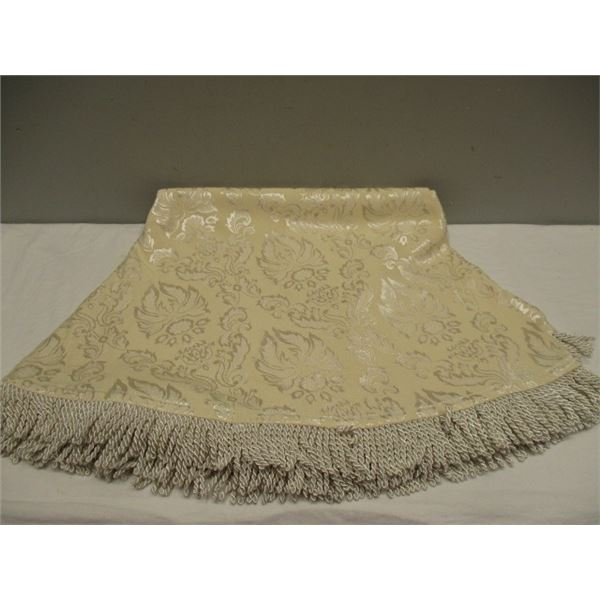 Round Fringed Tablecloth