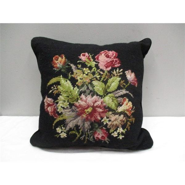 Hand Stitched Cushion Velvet Back