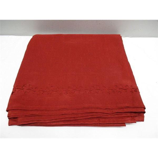 Fall Tablecloth Cut Out Edges Rust Colour