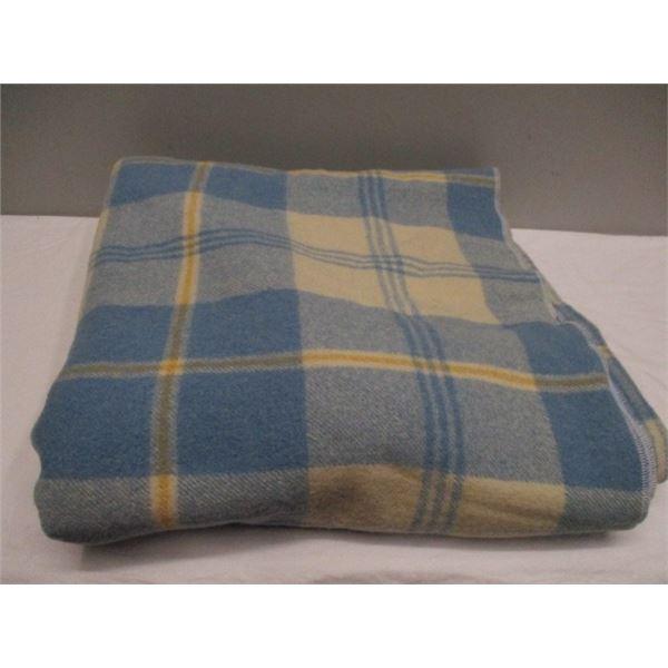 Antique Plaid Wool Blanket