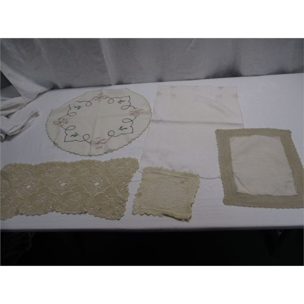 Lot Of Doilies And More