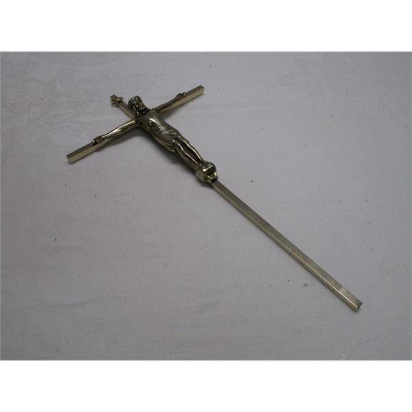 Large Metal Jesus Crucifix