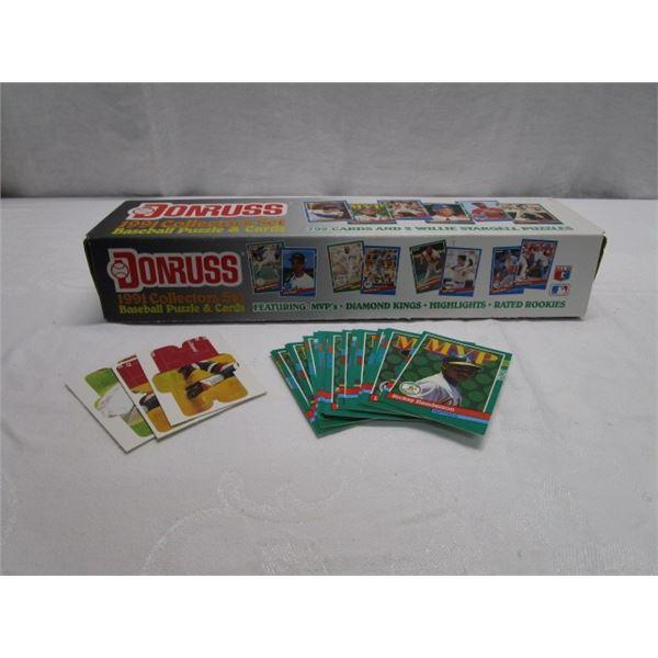 1991 Donrus Collectors Baseball Puzzle Card Set