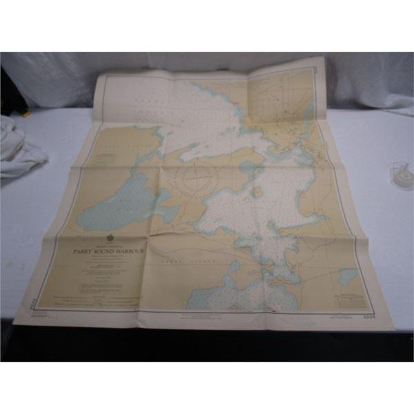 1968 Parry Sound Harbour Map