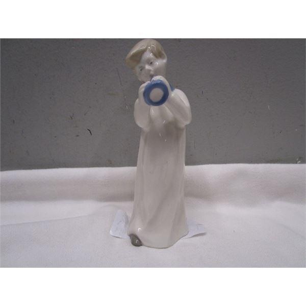 Porcelain Boy Horn Blower Figurine