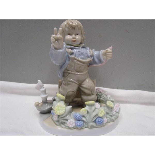 Montserratt Made Spain Porcelain Boy Figurine