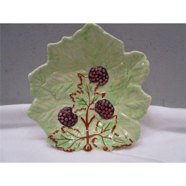 Brentleigh Ware Dish Raspberries & Leaves England