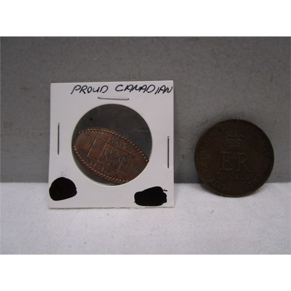Flattened Penny and Coin Lot