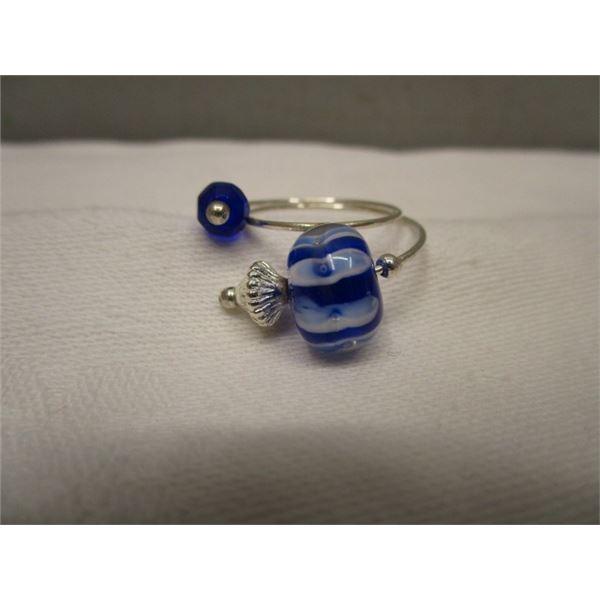 Unique Adjustable Glass Ring
