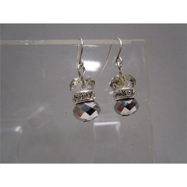 Crystal Pierced Drop Earrings