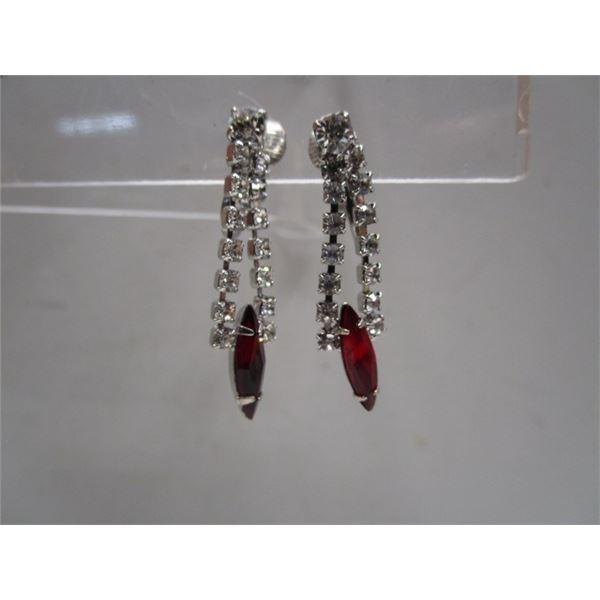 Crystal Clip On Drop Earrings