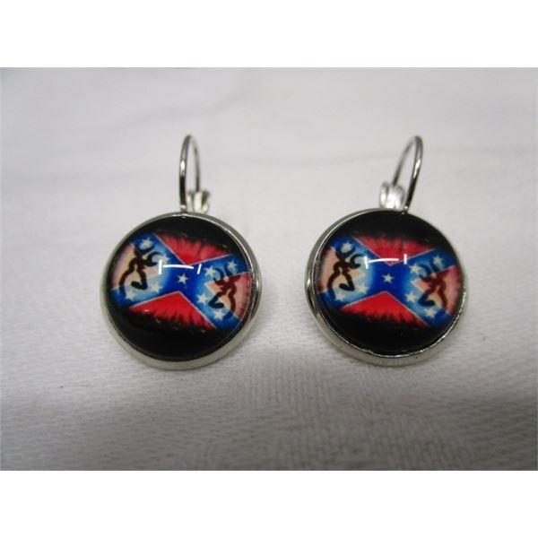 Confederate Flag Pierced Earrings