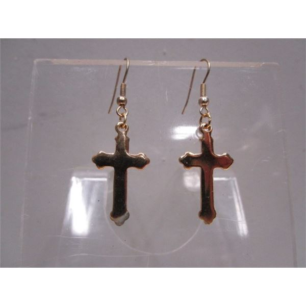 Pierced Cross Earrings