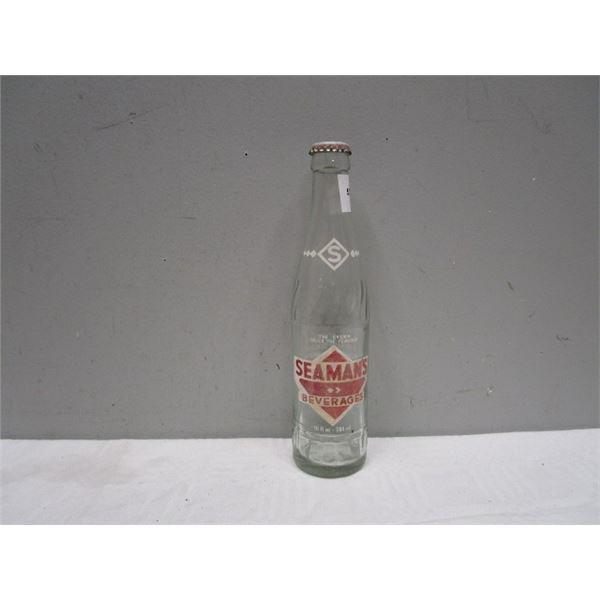 Seaman's Cream Soda Glass Beverage Bottle