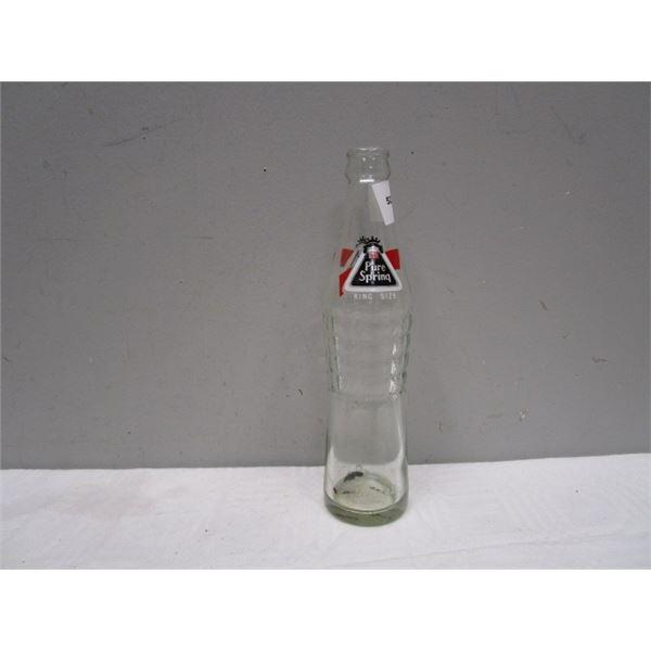Pure Spring King Size Glass Beverage Bottle